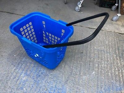 5 x lARGE Rolling wheelie shopping Baskets blue