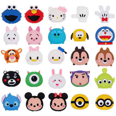 Cartoon Phone Charger Protector Soft Cord Animal Cable Bite Accessories Cool AU