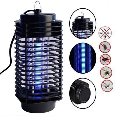 Pro 220V Electric Mosquito Fly Bug Insect Zapper Killer With Trap Lamp Black New