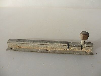 "Vintage Brass Door Lock Bolt Bathroom Lock WC Toilet Old Antique  6""L"