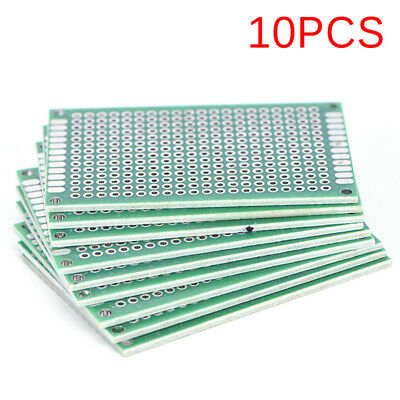 10PCS Double Side 3x7cm PCB Strip Board Printed Circuit Prototype Track NT