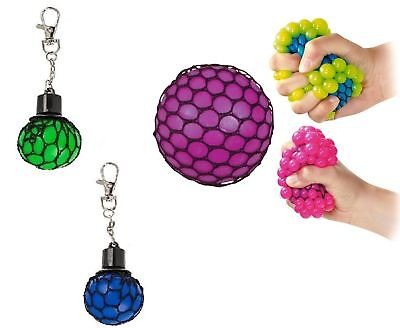 Squishy Mesh Ball Keyring Squeeze Toy Stress Reliever Sensory