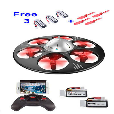 Drone WiFi FPV 720P HD Camera Quadcopter RC Live Video free 3 Batteries Bladers