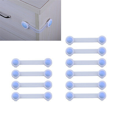 10X Child Infant Baby Kids Safety Lock Fridge Drawer Door Cabinet Cupboard Locks