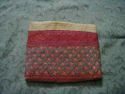 Vintage 3-Part Straw BasketWeave Wallet Billfold Purse Makah / Nootka NW Coast