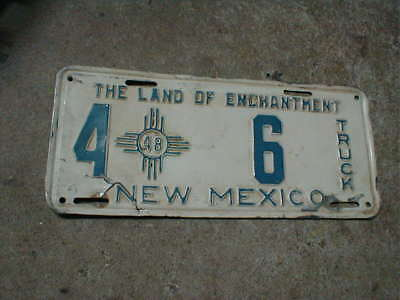 1948 New Mexico Truck License Plate 4 ZIA 6 Low Digit Number