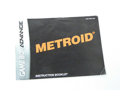 Instruction Booklet! for Metroid Nintendo GameBoy Advance