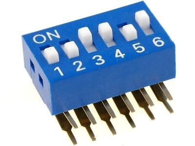 DSK-06 Switch DIP-SWITCH Poles number6 ON-OFF 0.05A/12VDC -20÷70°C