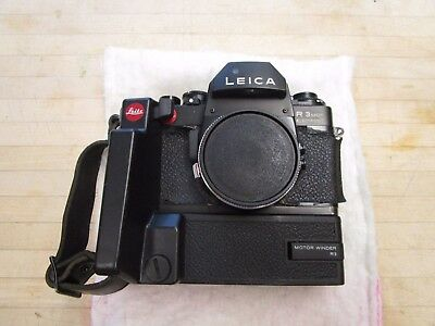 Leica R3 MOT [R 3] 35mm SLR Film Camera Body w R3 Motor Winder & Grip