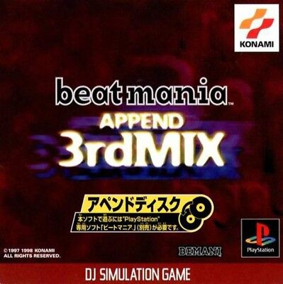 PS1 / Sony Playstation 1 - Beatmania Append 3rd Mix JAPAN boxed Box damaged
