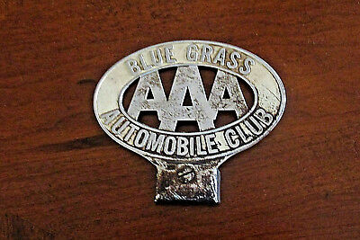 LICENSE PLATE TOPPER Antique Vintage BLUEGRASS AAA Automobile Club ~ KENTUCKY