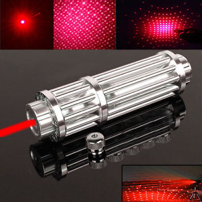 High Power Military Red Laser Pointer Pen 1W 650nm Burn Beam Pen Light &Star Cap