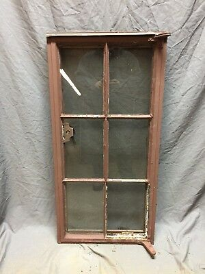 Vtg Industrial Steel 19X40 6 Lite Casement WIndow Old Factory Warehouse 414-18C
