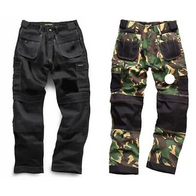 STANDSAFE TACTICAL BLACK, BRITISH DPM CAMOUFLAGE HEAVY DUTY PRO WORK TROUSERS,ek
