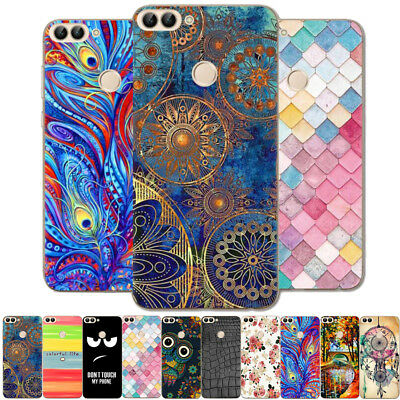 For Huawei P20 P Smart Painted Shockproof Soft Silicone Rubber TPU Case Cover