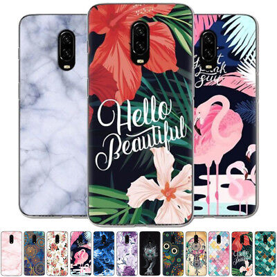 For OnePlus 6T Painted Ultra Slim Shockproof Soft Silicone Rubber TPU Case Cover