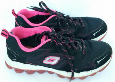 6e30a129b7c0 Skechers SKECH-AIR Athletic Shoes Sneakers Black Hot Pink Lace Up Womens  Size 6