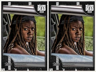 2x ON THE MOVE WHITE MICHONNE WAVE 1 Topps Walking Dead Digital Card Trader