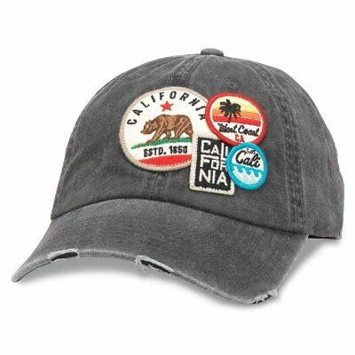 14c48411b19e5 American Needle Iconic Patch Distressed Dad Hat California  (43910A-CALI-Parent)