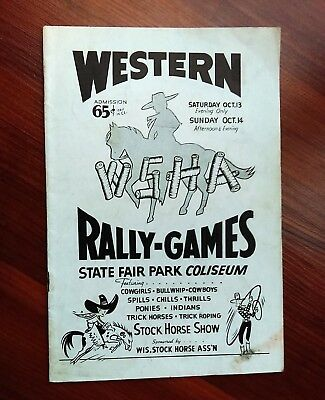 1945 WSHA Wisconsin Western Rally Games State Fair Stock Horse Show I Cowboys