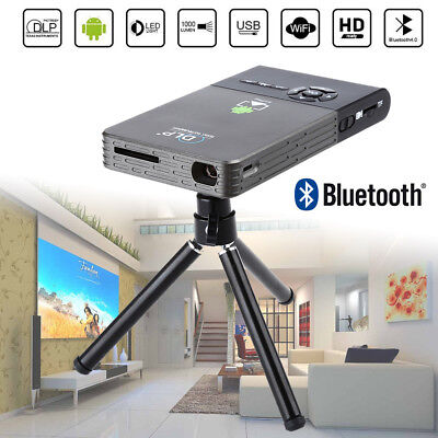 C2 Android 4.4 Mini Smart HD 1080P Projector DLP Home Cinema 1080P BT-4.0