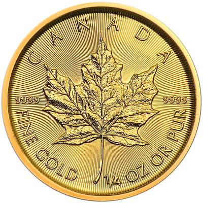 2019 $10 Gold Canadian Maple Leaf .9999 1/4 oz Brilliant Uncirculated
