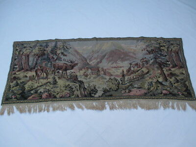 Old French / Belgium Tapestry Wall Hanging - 181 x 69 cm ( 4597 )