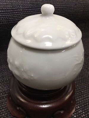 Antique Japanese Celadon Porcelain lidded sm bowl  signed marked