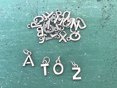 52 asst. Pieces A to Z PEWTER LETTERS FOR HOME, DECOR, CRAFT SHOPS ALL NEW.