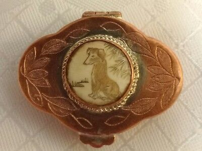 Japanese plate on copper snuff box