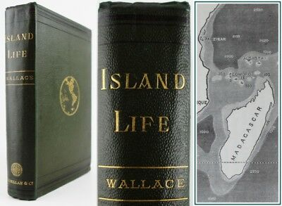 1880*ALFRED RUSSEL WALLACE*ISLAND LIFE*1st EDITION*ANIMAL/PLANT DISPERSAL*SCARCE