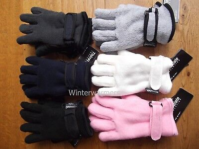 Kids Thermal Gloves Fleece Gloves Winter Thinsulate Glove Boys Girls Age 7-16