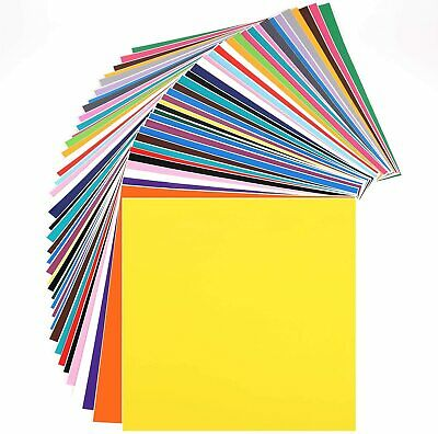 40 Pack Self Adhesive Vinyl Sheets Colors Cricut Silhouette Cameo Decal 12 x 12