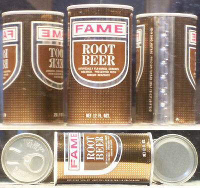 Fame Root Beer Soda Pop Steel A/F 12 ounce Can Dayton 45429 Ohio SC222