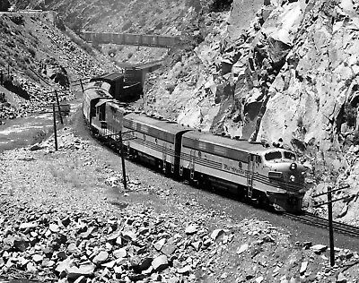 D&RGW F's Passing Sulphur Springs  - Original B&W Negative