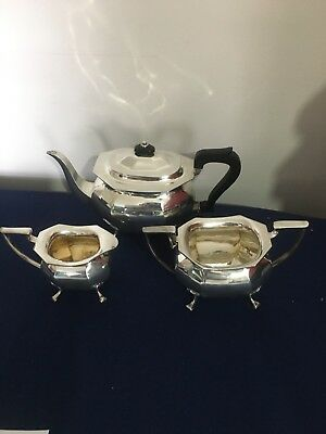 A Beautiful Antique 19th Hallmarked Solid Silver J Round & Son  Tea Set.