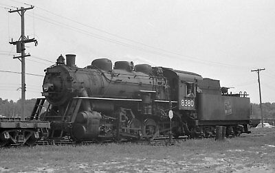 GTW Locomotive #8380 at Muskegon  - Original B&W Negative