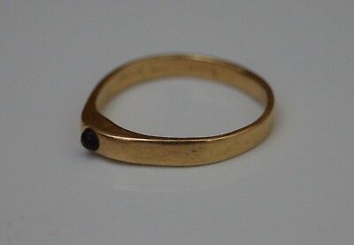 Beautiful 14th C. Medieval Solid Gold Men's Sapphire Stirrup Ring. Wearable.