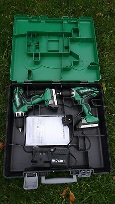 Hitachi KC18DGL 18V Li-Ion Combi Drill & Drill Driver (Twin Pack) x 2 Batteries