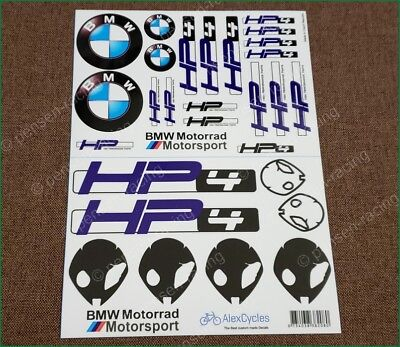 BMW Motorrad Motorsport HP4 UFO Laminated Decals Stickers Kit