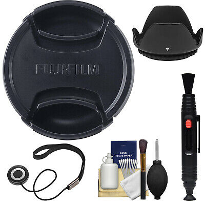 Fujifilm 58mm X Series Snap-on Digital Camera Front Lens Cap with Lens Hood Kit