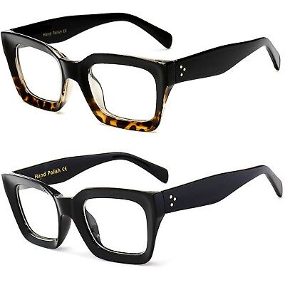 Black Thick Square Frame Geek  Fashion High Quality Glasses
