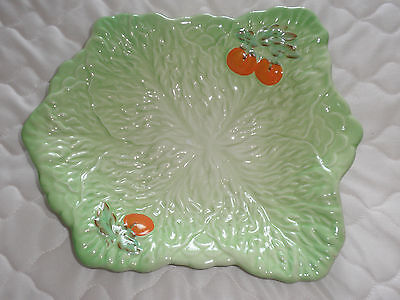 Beswick Leaf Dish In Green With Tomato Design
