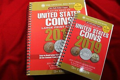 2019 Red Book,  Guide Book Of United States Coins,  Spiral Large Print Edition,