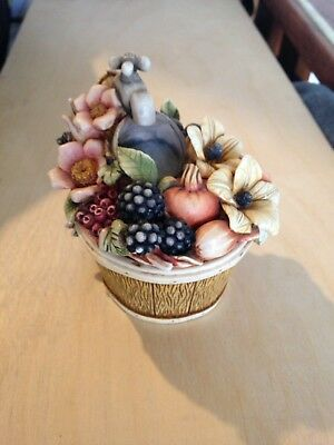 Lord Byrons Harmony Garden Collectible Handmade Decorative Box Fall Bouquet