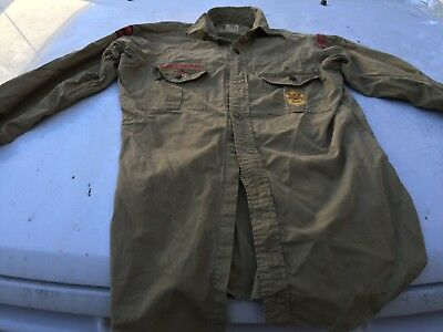 Vintage Boy Scouts Of America Shirt Long Sleeve Mens Green PUNK ROCK