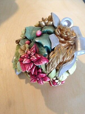 Lord Byrons Harmony Garden Collectible Handmade Decorative Box Christmas Bouquet
