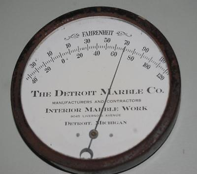 Rare Antique Advertising Thermometer Sign  Detroit Marble Work Co.  Michigan