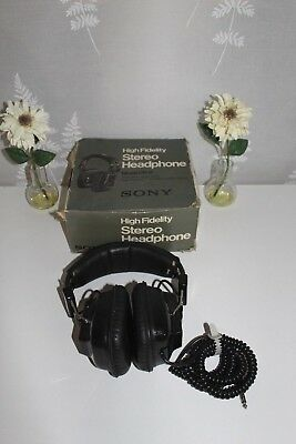 Sony DR-9 High Fidelity Vintage Stereo & Mono Headphones, Boxed, Made in Japan!