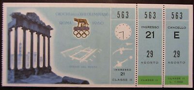 1960 ROME OLYMPIC GAMES TICKET 2nd CLASS SWIMMING & WATER-POLO NUOTO